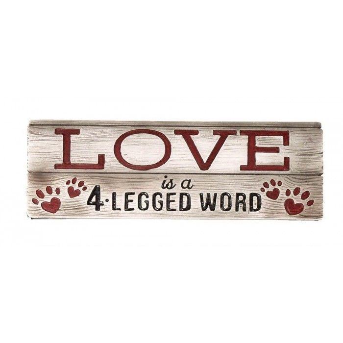 Love Pets Decorative Sign