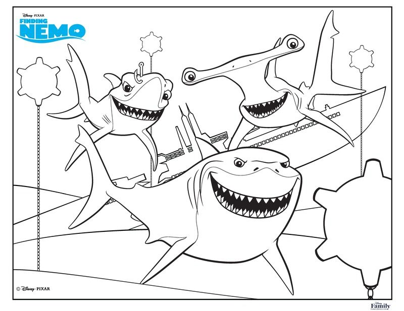 18 Fun Free Printable Summer Coloring Pages For Kids Good Ones Shark Coloring Pages Nemo Coloring Pages Summer Coloring Pages