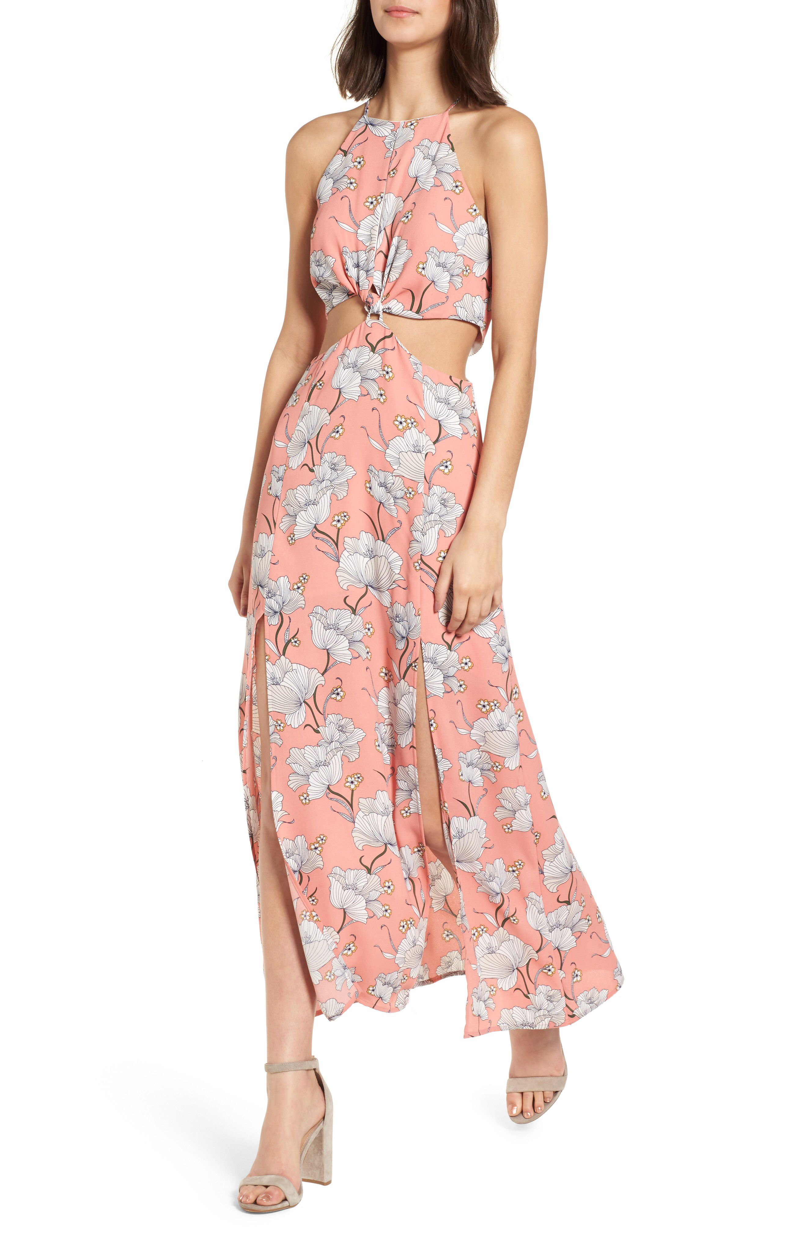 Lush Floral Cutout Maxi Dress available at #Nordstrom | 2018 ...