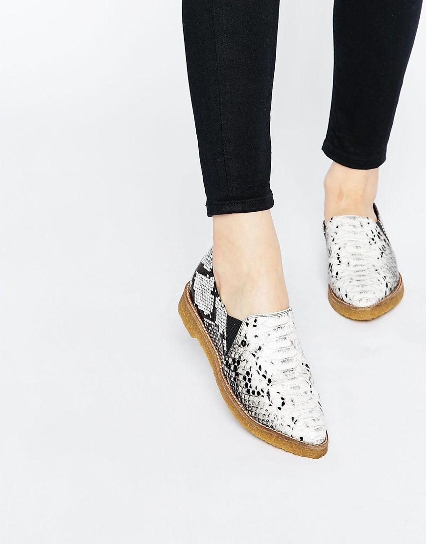 Labyrinthe Chaussures Plates En Daim - Asos Noir HoJqAM42Nx