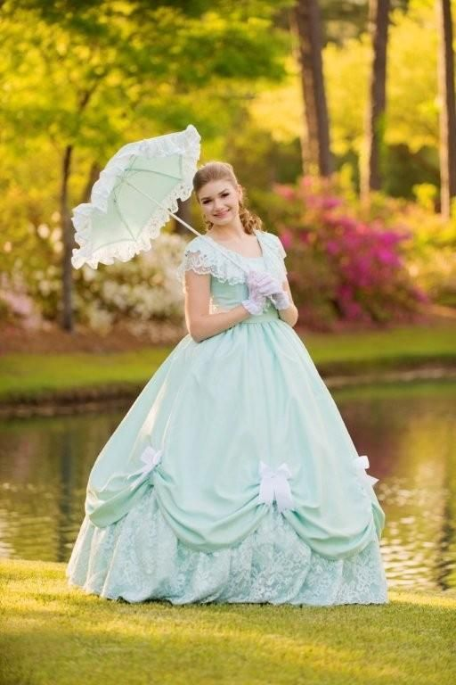 Sutton Horger in the dress she designed and made for the 2015 Azalea Festival.