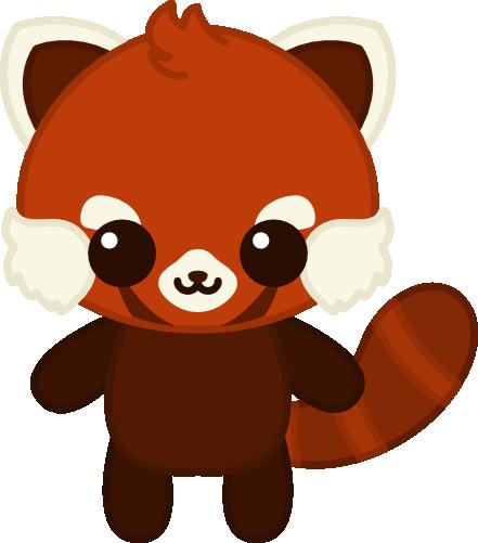 Red Panda Panda Painting Anime Baby Cute Panda