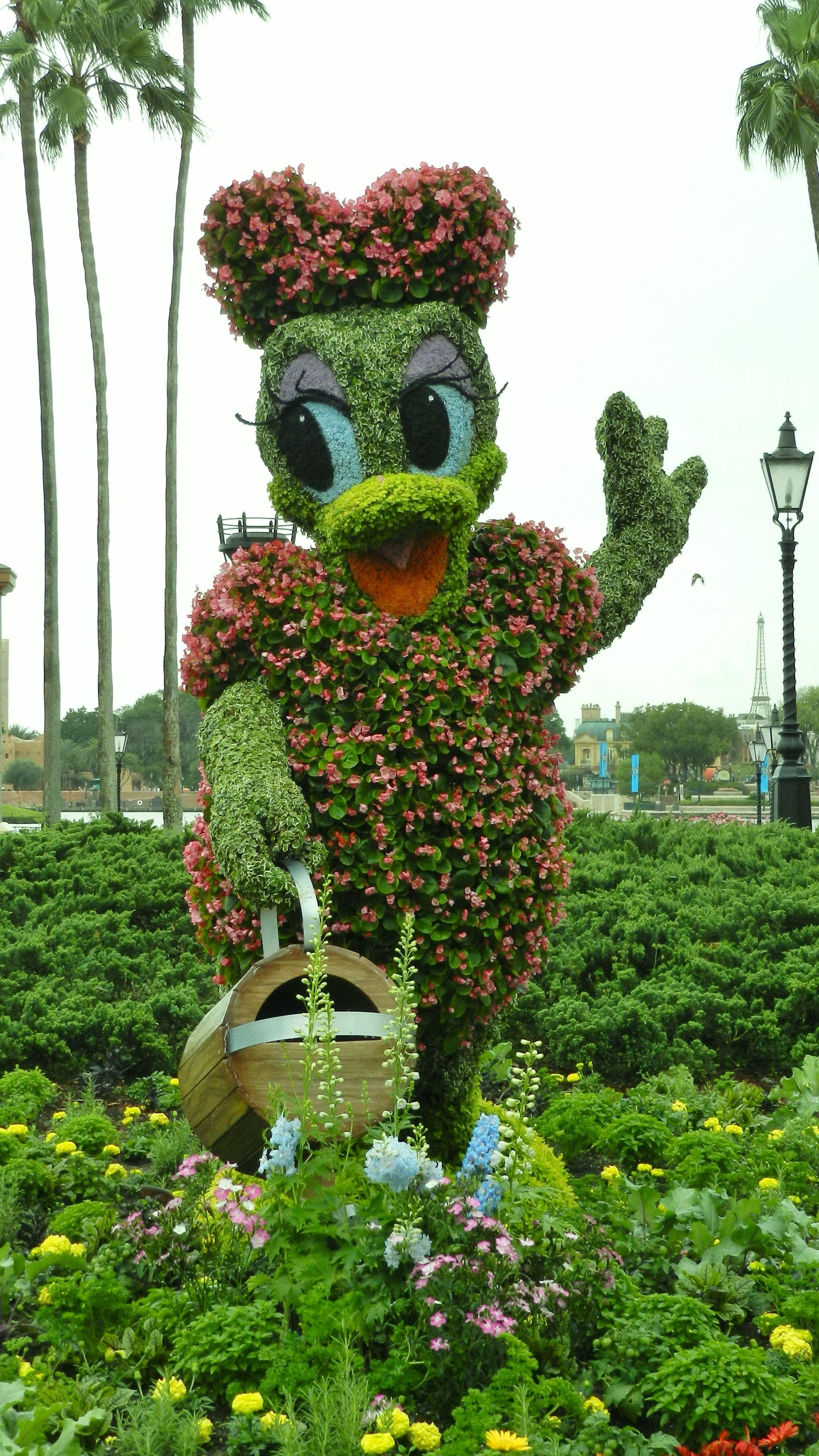 Daisy duck topiary walt disney world jardiner a for Jardin walt disney
