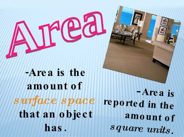 Free PowerPoint lesson in area and perimeter