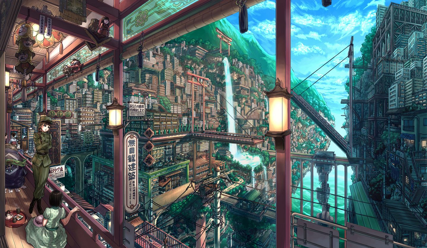 Solarpunk Wallpaper Anime Scenery Wallpaper Scenery