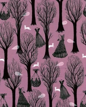 Cotton & Steel Spellbound Haunted Forest Lilac
