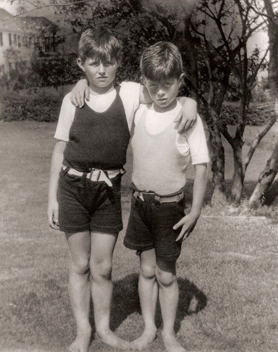 Young Kennedy Brothers Joseph P Kennedy Jr And John F