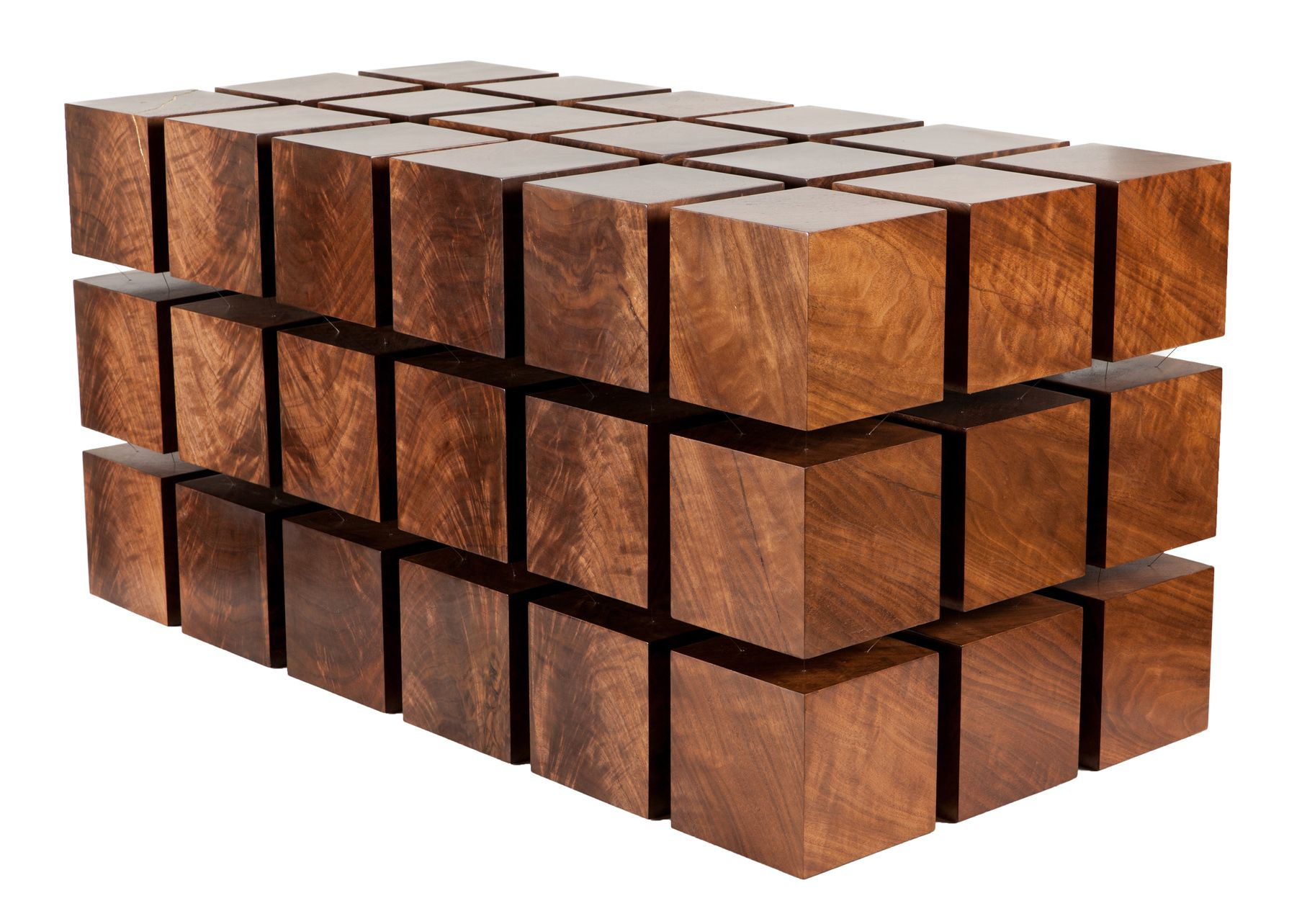 Wood Cubes Furniture The Float Table Is A Matrix Of \\ Wood Cubes ...