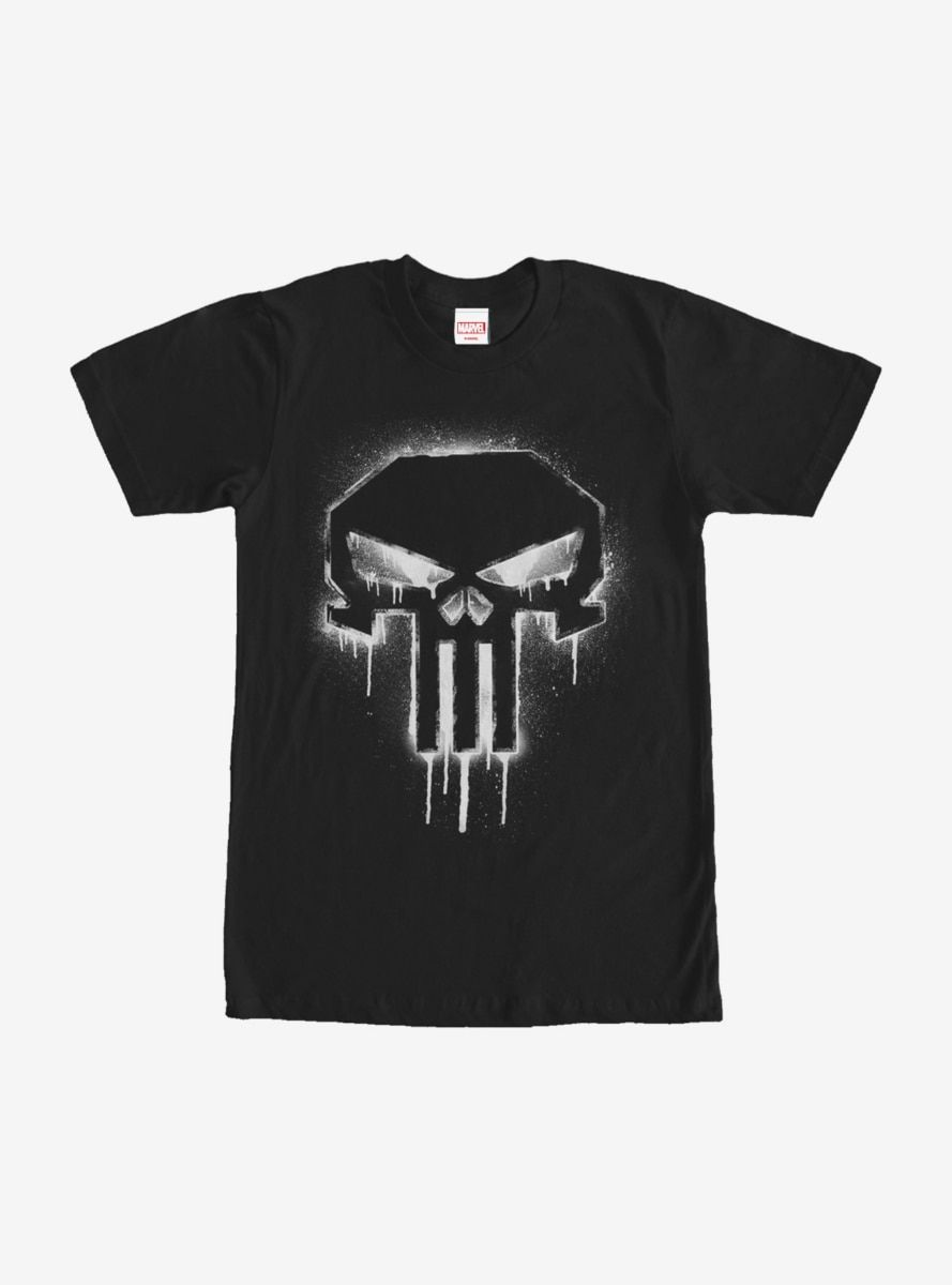 cde5133fc Marvel The Punisher Paint Drip Skull T-Shirt in 2019 | Products ...