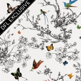 The Colourful Birds And Butterflies Take Wing Amid A Black And White