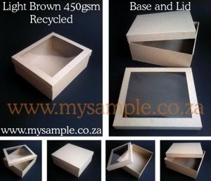 450gsm Smooth Light Brown Recycled Base And Lid Gift Boxes By Gmh