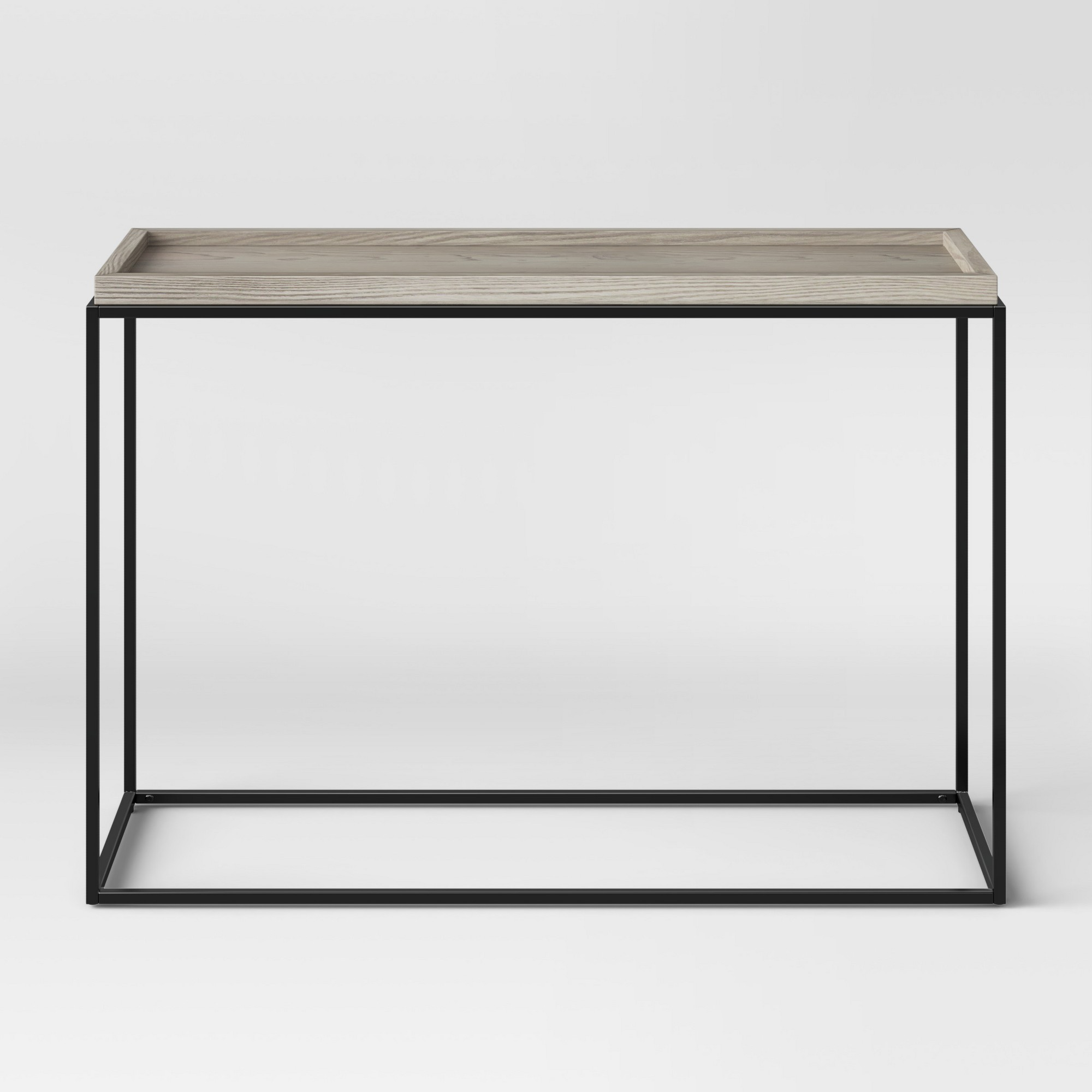 Intarsia natural console table