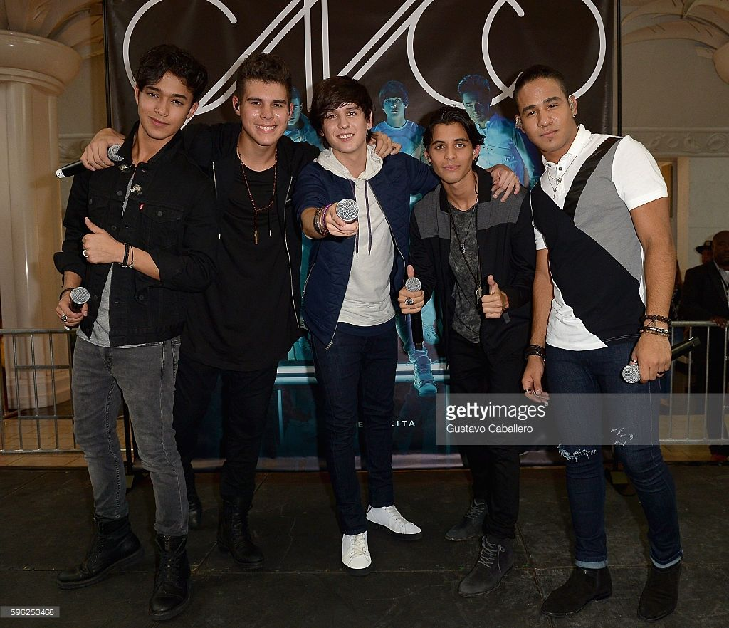 Musical group cnco performs at the meet and greet fans at miami musical group cnco performs at the meet and greet fans at miami international mall on august kristyandbryce Gallery