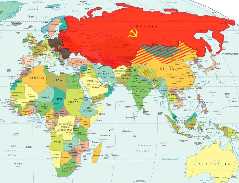 Como Se Vivia En La Union Sovietica La Union - Launion map