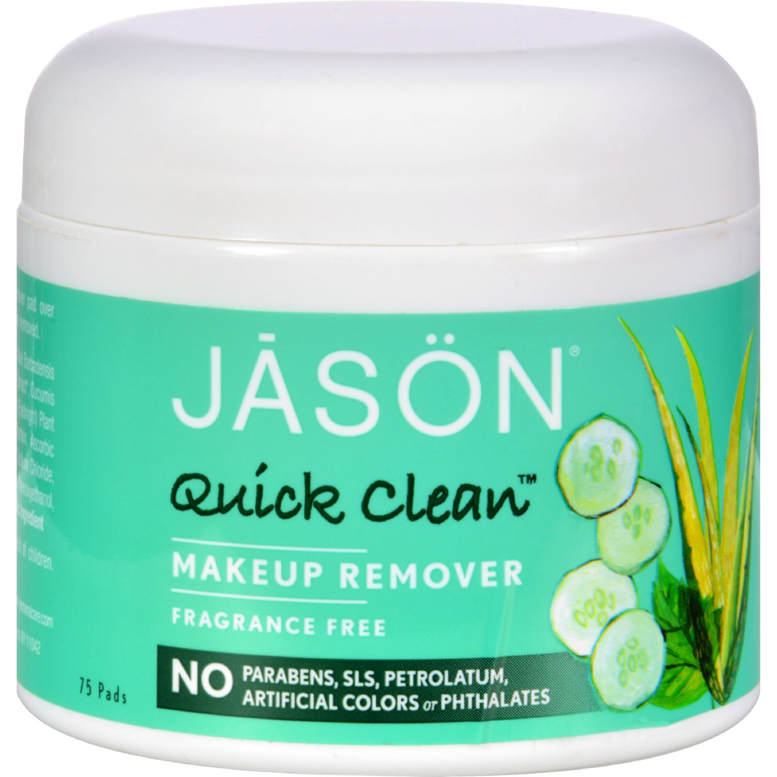 Jason Quick Clean Makeup Remover Fragrance Free 75 Pads