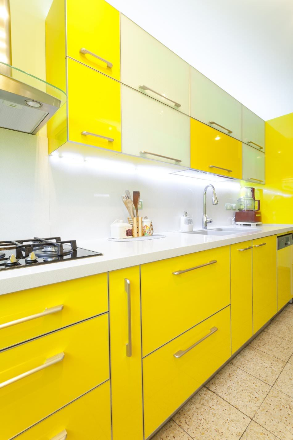 Hg Lacquer Ral Luminous Yellow Find The Best Cabinets To Renovate Your Kitchen At 27estore Modern Kitchen Design Yellow Kitchen Cabinets Kitchen Design