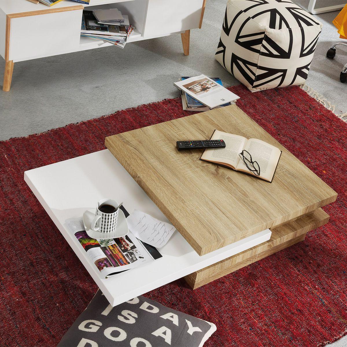 Table Basse Kiu Mdf Et Melamine Taille Taille Unique Table