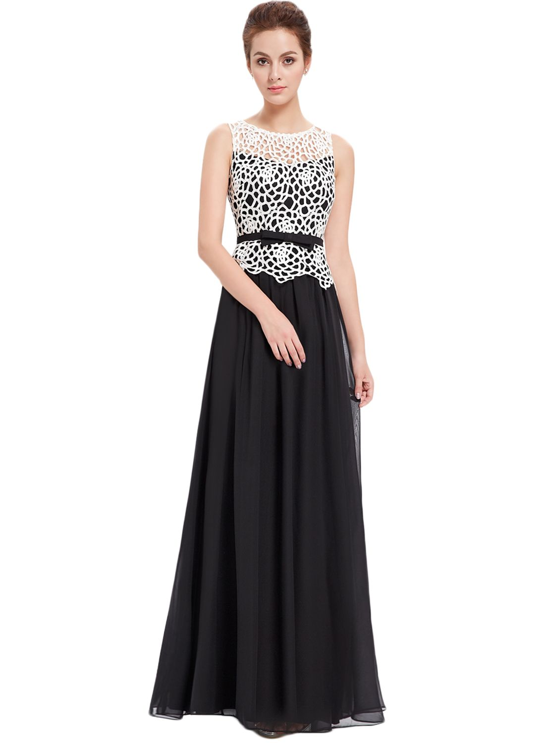 Fashion hollow out sleeveless maxi prom evening dress oasap