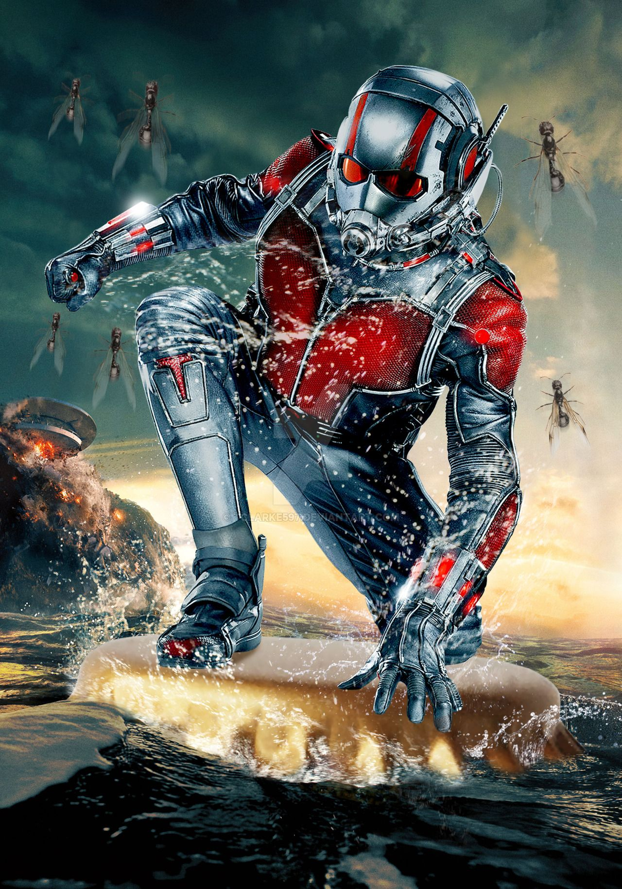 This is a picture of Unusual Marvel Heroes Ant Man