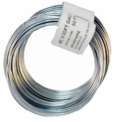 Hillman Fasteners 50 19ga Galv Wire 123179 Wire Steel By Hillman Fasteners 0 73 50 19 Gauge Galvanized General Purpose Fencing Supplies Wire Galvanized