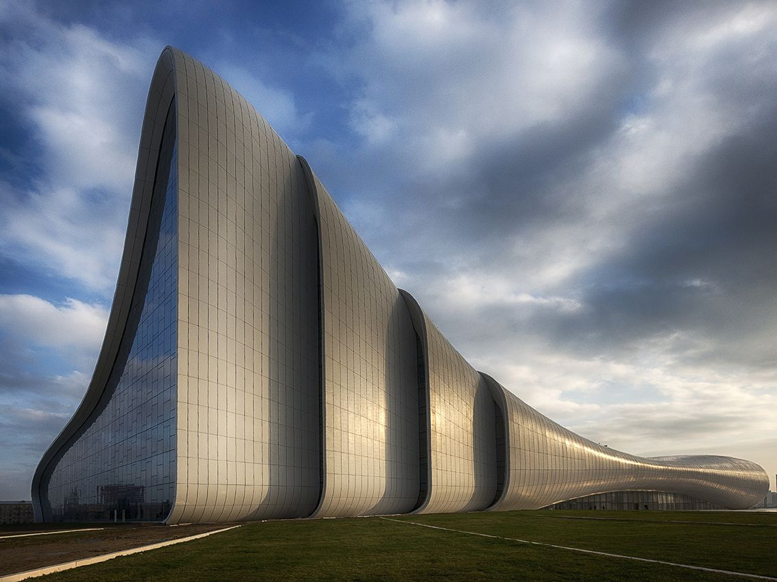 Cool Architecture Design Art concert hall of the cultural center of haydar aliev, republic of
