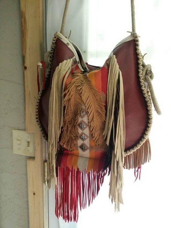 Handcrafted Western Leather Boho Fringe by WhiteBuffaloCreation