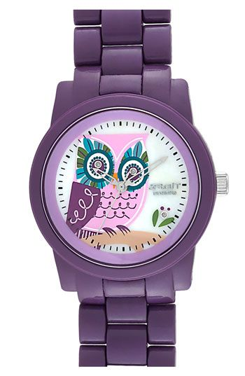 SPROUT™ Watches Diamond Owl Watch | Nordstrom