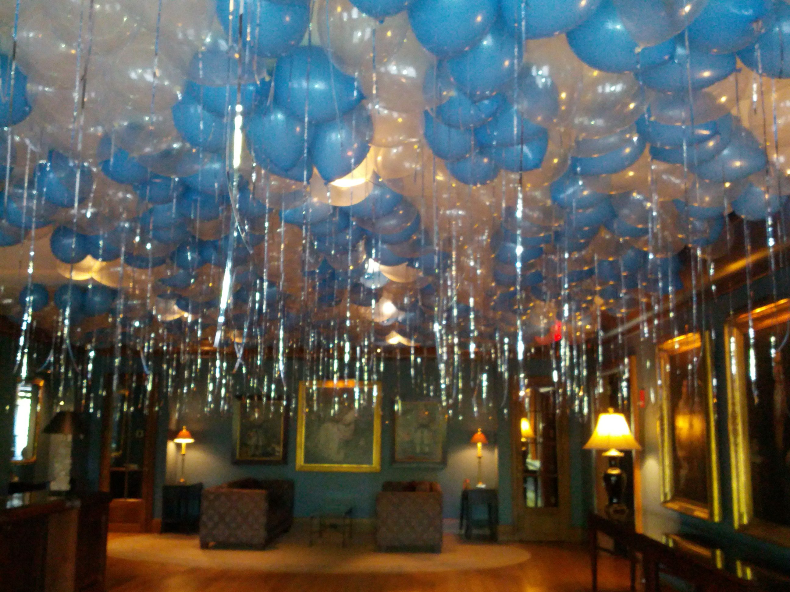 Balloons All Over The Ceiling Create Excitement As Guests