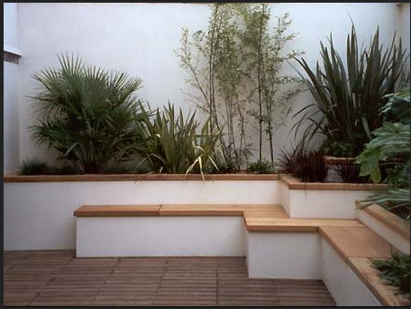 Patio Wall Design enclosed patio courtyard with high brick walls and planters Rendered White Garden Wall Ideashow Pistonheads
