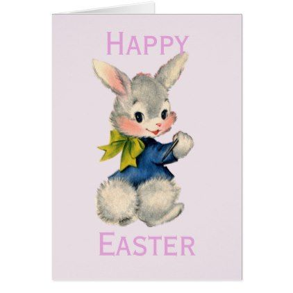 Retrovintage easter bunny card retro gifts style cyo diy special retrovintage easter bunny card retro gifts style cyo diy special idea negle Images