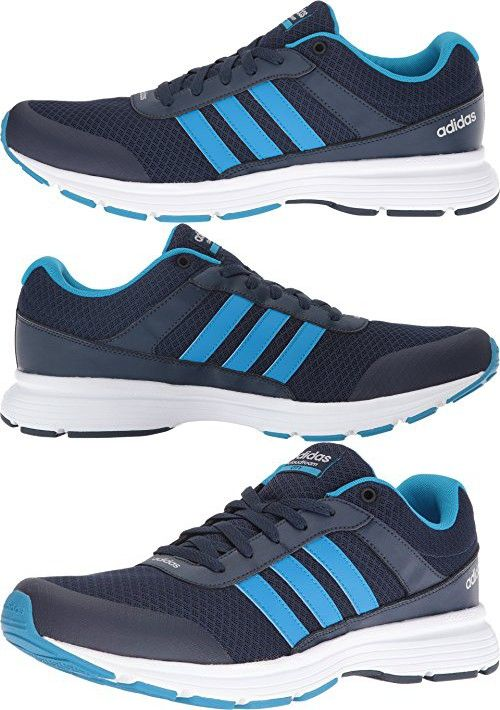 Adidas Performance Men\u0027s Cloudfoam Vs City-M Running Shoe, Collegiate  Navy/Solar Blue