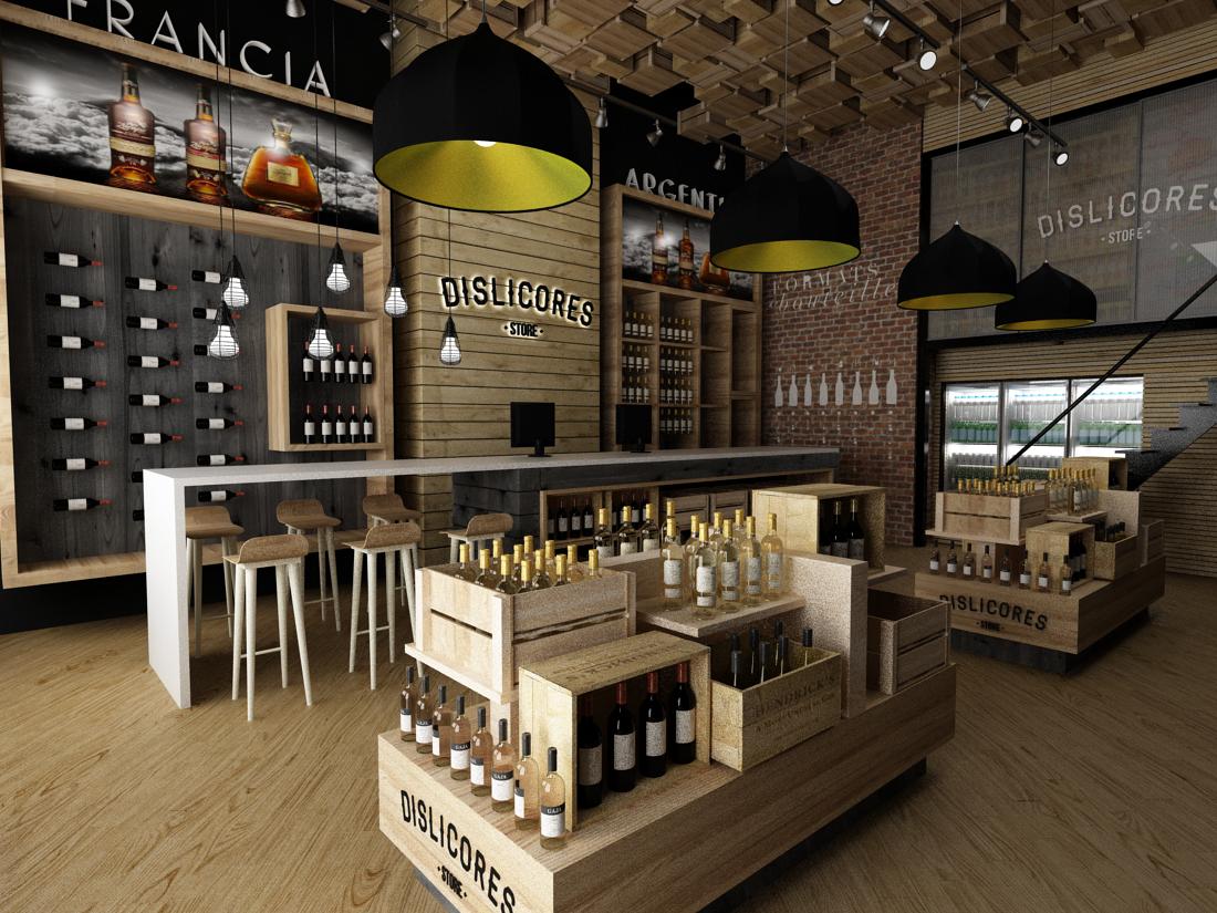Tiendas dislicores propuesta de dise o tienda licorera - Diseno de vinotecas ...
