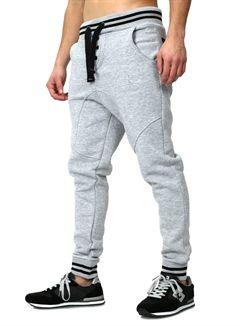 Akito Tanaka Low-Crotch Sweatpants grey   Mens joggers ...
