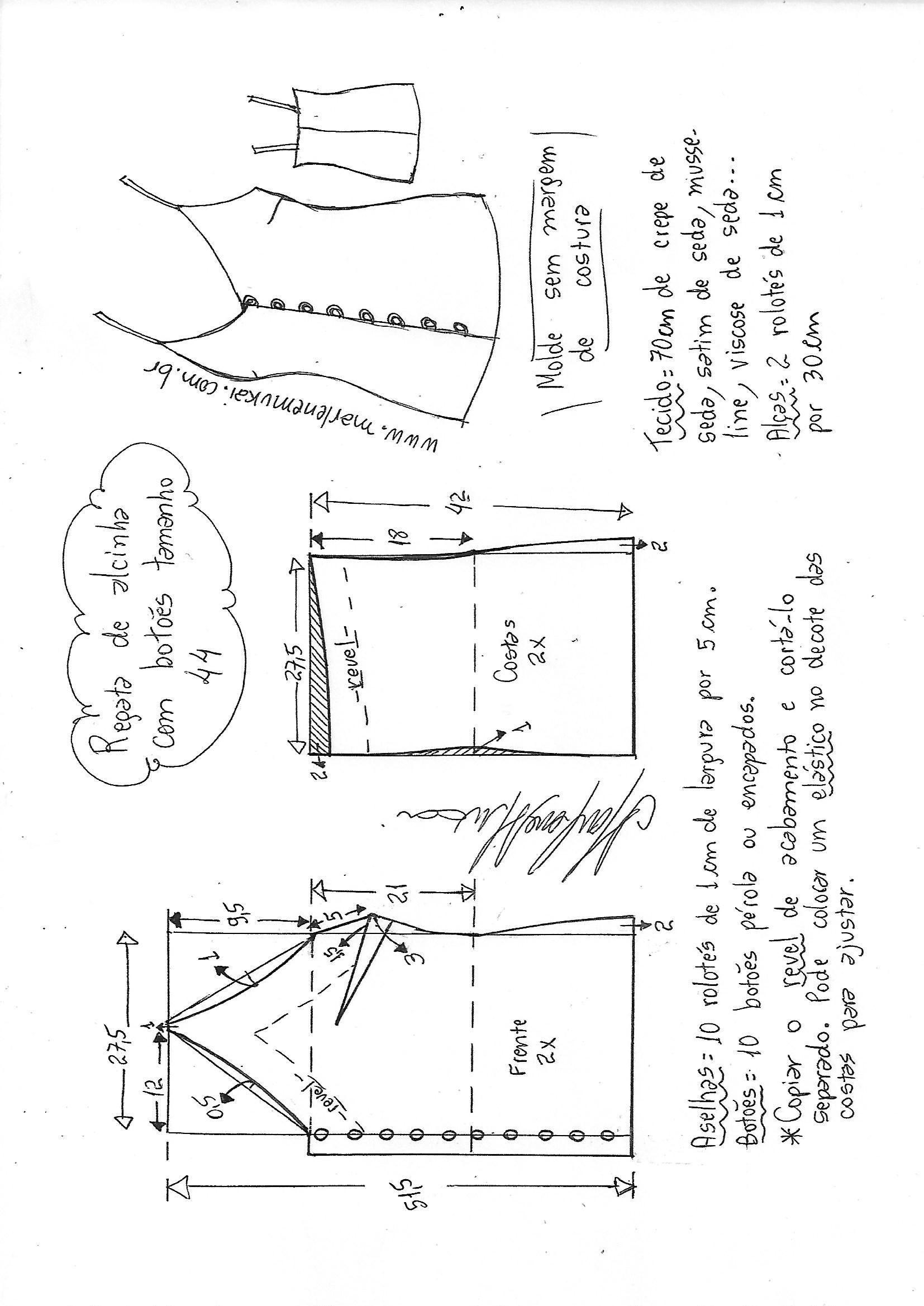 Pin de Gloria Montenegro en diseños | Pinterest | Costura, Patrones ...