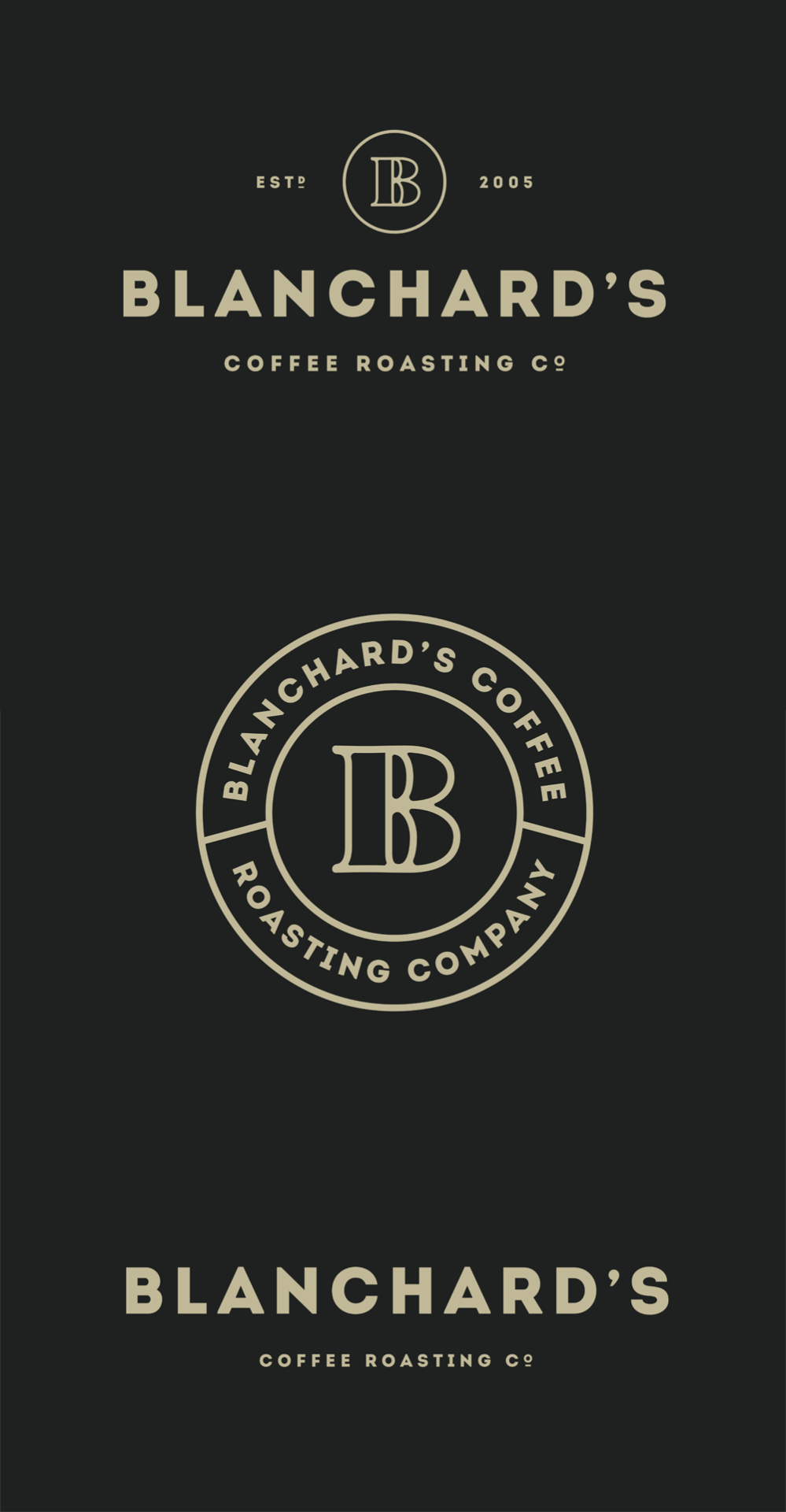 Blanchard's Coffee Roasting Company redesign by Skirven