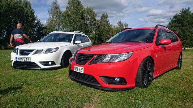 Two Beautiful Saab 9 3 Sportcombis Saab 9 3 Saab 9 3 Aero Saab