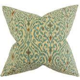 Found it at Wayfair - Ennis Ikat Cotton Throw Pillow