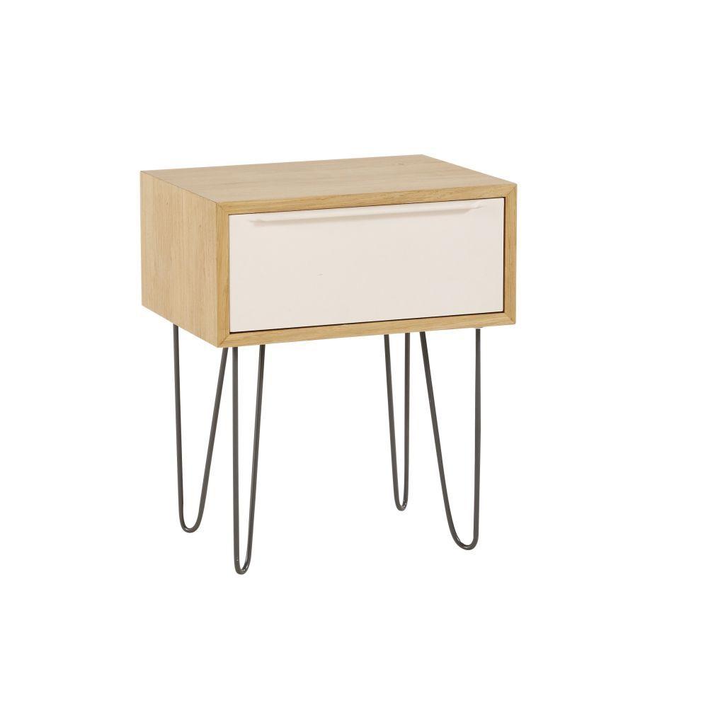 Table De Chevet Style Scandinave 1 Tiroir Table De Chevet