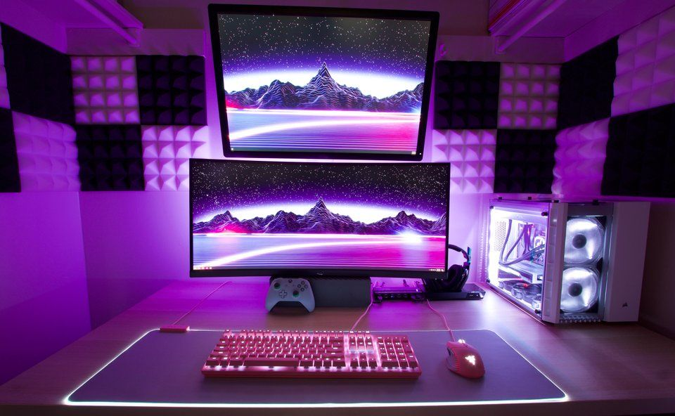 Yes My Setup Is In A Walk In Closet Battlestations Computer Setup Gaming Setup Battlestation