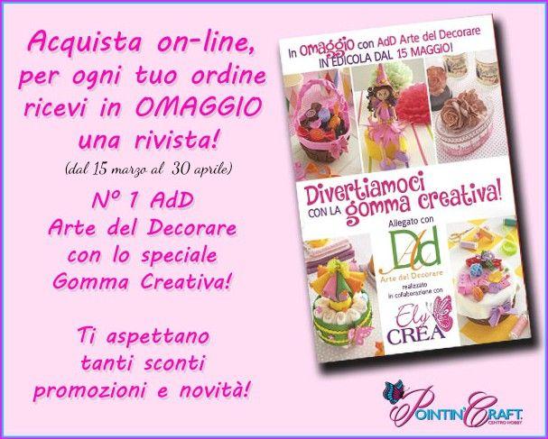 #omaggio #riviste #creatività #adD #gommacreativa #fommy #kitifoam  www.pointincraft.com
