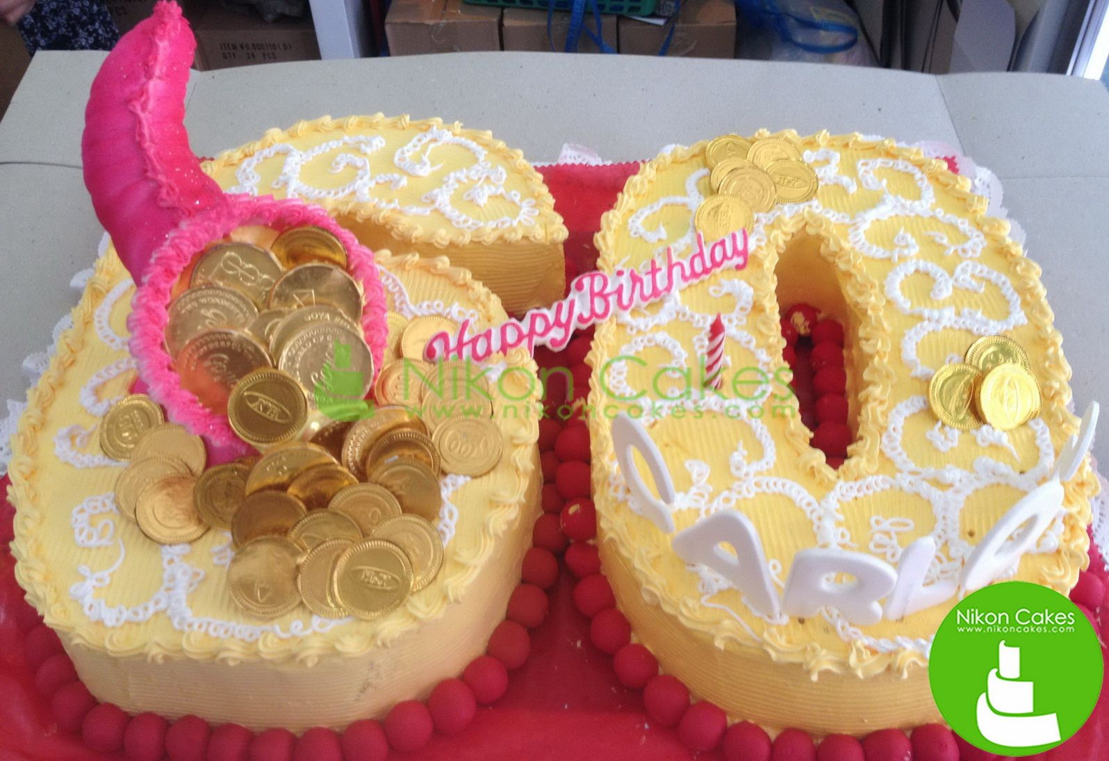 Welcome your golden years with us. Must love Nikon Cakes. Check out our site for more sumptuous delights www.nikoncakes.com/