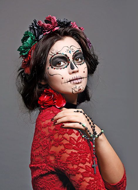 Maquillaje Halloween Calavera mexicana foto disfraz Pinterest