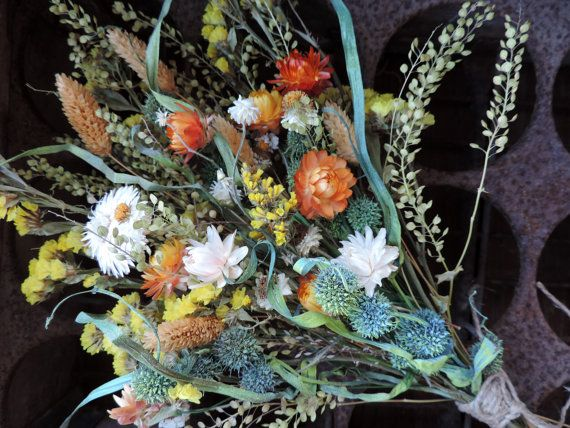 Dried Flower Bouquet Floral Arrangement Medium Size Straw Flowers Rhpinterest: Dried Grasses Home Decor At Home Improvement Advice