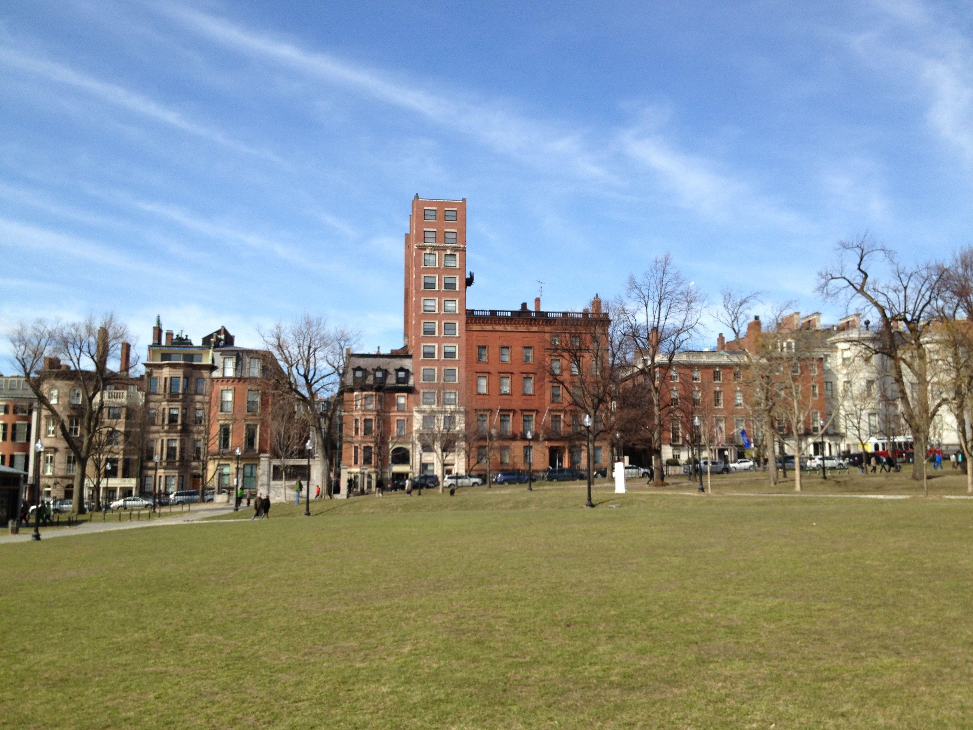 Beacon Street buildings in March 2013. © Michael Rass