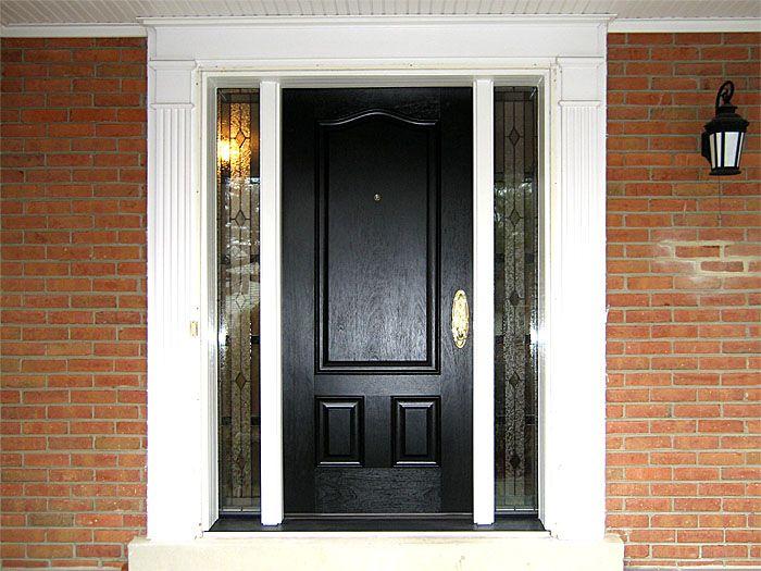 Black Entry Doors Custom Sized Provia Signet Fiberglass Entry Door In Coal Black Home