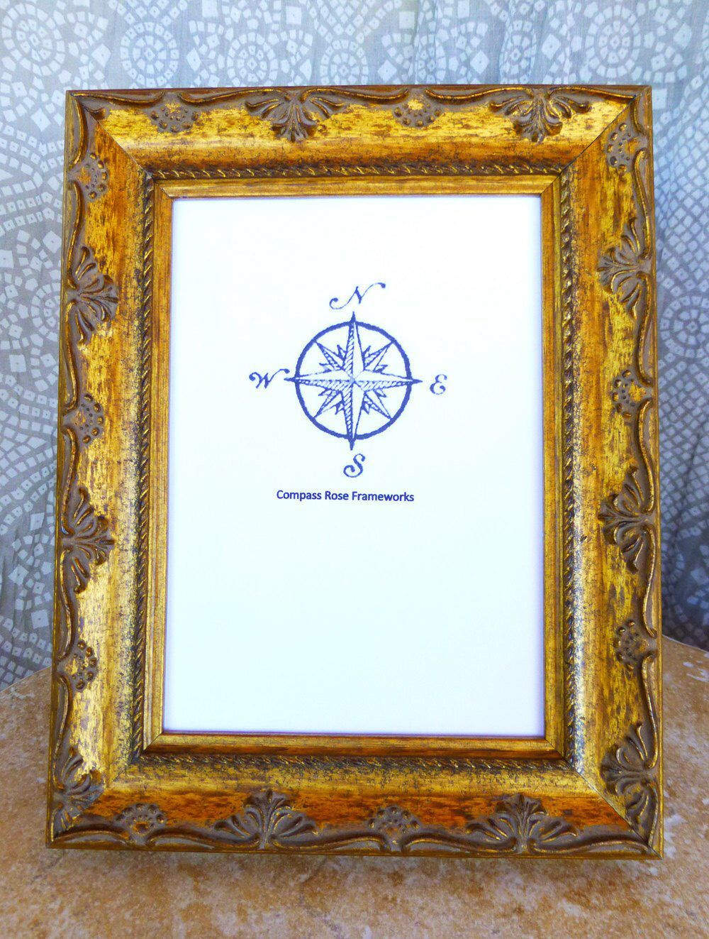 Wood Picture Frame Gold Antique Finish Classic Handmade Tabletop Display Select Size 4 X 6 5 X 7 8 X 10 8 5 X 11 Picture On Wood Wood Picture Frames Frame