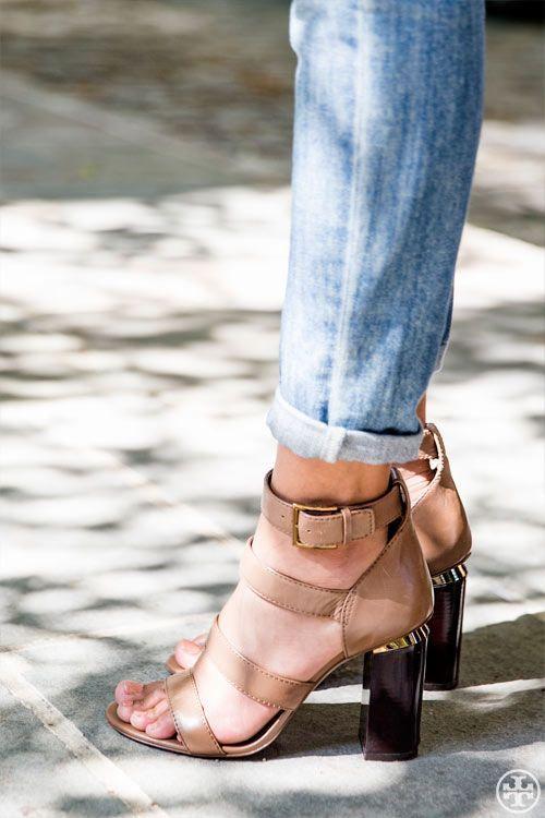 3769dad17fb09 Tory Burch; Jones high-heel sandal.   Shoes   Shoes, Shoe boots, Heels