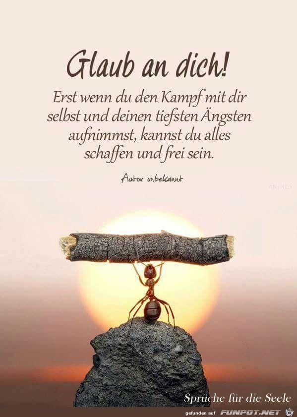 ein Bild für\'s Herz \'Glaub an Dich.jpg\' | Sprüche | Pinterest ...