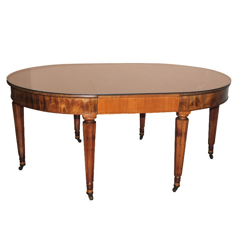 A Louis Philippe Oval Dining Room Table C1880s Meuble de style