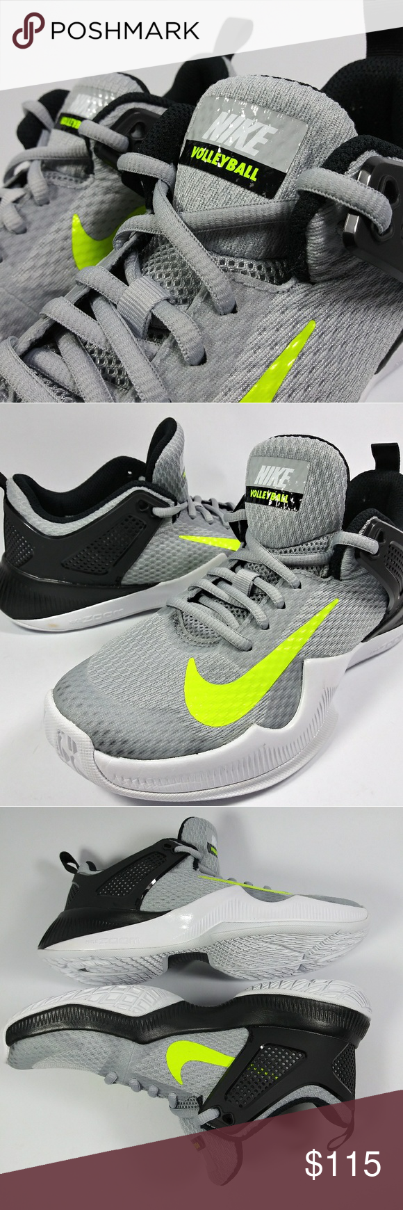 Nike Womens Air Zoom Hyperace Volleyball Shoes Nike Womens Air Zoom Hyperace Volleyball Shoes 902367 007 Sz 10 Wolf Volleyball Shoes Gray Nike Shoes Nike Women
